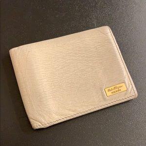 Salvatore ferragamo mens bifold leather wallet